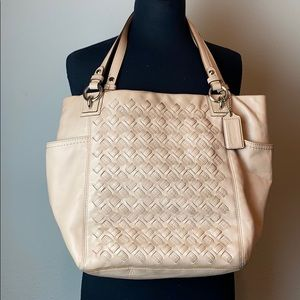 Coach Braided Leather Tote Bag